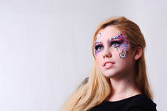 Woman with party make up Stock Photo