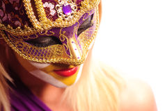 Woman in party mask Royalty Free Stock Photography