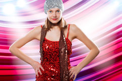 Woman, party, sequins Royalty Free Stock Image