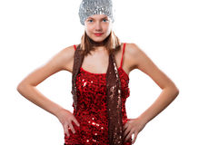 Woman, party, sequins Stock Photography
