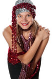 Woman, party, sequins Stock Photos