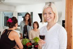 Woman at Party Stock Photography