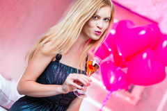 Woman partying in club Stock Photo