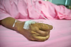 Woman patient  In Hospital Bed Royalty Free Stock Image