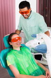 Woman patient visiting dentist Royalty Free Stock Image