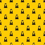 Woman pattern vector. Woman pattern seamless vector repeat geometric yellow for any design royalty free illustration