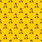Woman pattern vector. Woman pattern seamless vector repeat geometric yellow for any design stock illustration
