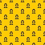 Woman pattern vector. Woman pattern seamless vector repeat geometric yellow for any design vector illustration