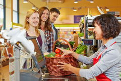 Free Woman Paying Groceries At Stock Photo - 42158820