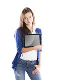 Woman with pc tablet Royalty Free Stock Photo