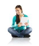 Woman with pc tablet Stock Photography