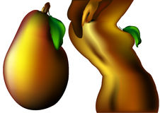 Woman - pear Royalty Free Stock Photography