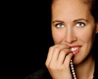 Woman with Pearls Stock Photography