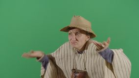 Woman Peasant Looking Confused To Camera