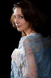 Woman in peignoir Stock Photo