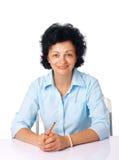 Woman with a Pencil. Stock Photos