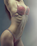 Woman with perfect athletic body . Royalty Free Stock Images