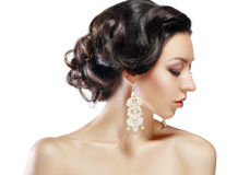 Woman with perfect hairdo Royalty Free Stock Photo
