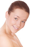 Woman with perfect health skin of face Royalty Free Stock Photos