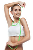 Woman in perfect shape stock photo
