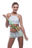 Woman in perfect shape stock images