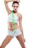 Woman in perfect shape Royalty Free Stock Photography