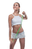 Woman in perfect shape Royalty Free Stock Photo