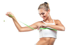 Woman in perfect shape stock image