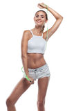 Woman in perfect shape royalty free stock photos