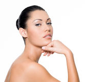 Woman with perfect skin Royalty Free Stock Images