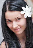 Woman with perfect skin in beauty salon Stock Photography
