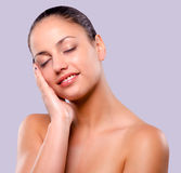 Woman with perfect skin Stock Images