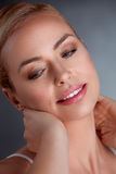 Woman with perfect skin Royalty Free Stock Image
