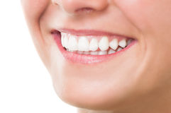 Woman with perfect teeth and beautiful smile Royalty Free Stock Photos
