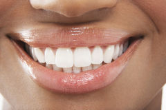 Woman With Perfect White Teeth Stock Photography