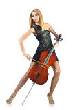 Woman performer with cello Stock Image