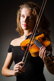 Woman performer with violin Stock Image