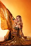 Woman performing arabic dance Royalty Free Stock Images