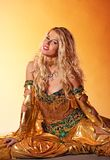 Woman performing arabic dance Royalty Free Stock Photos