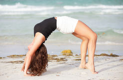 Woman performing a backbend Stock Image