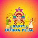 Woman performing Dhunuchi dance of Bengal for Durga Puja Royalty Free Stock Image