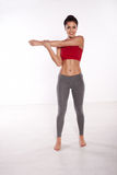 Woman performing fitness exercises Royalty Free Stock Photography