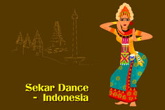 Woman performing Sekar dance of Indonesia Royalty Free Stock Photography