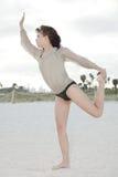 Woman performing yoga Stock Photography