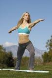 Woman Performing Yoga Exercises Stock Photos