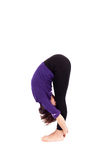 Woman performing yoga exercises Royalty Free Stock Photography