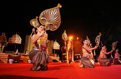 Woman performs a Thai traditional dance Royalty Free Stock Images