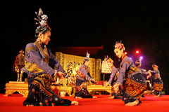 Woman performs a Thai traditional dance Stock Image