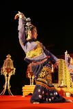 Woman performs a Thai traditional dance Stock Photos