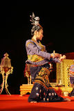 Woman performs a Thai traditional dance Royalty Free Stock Photo